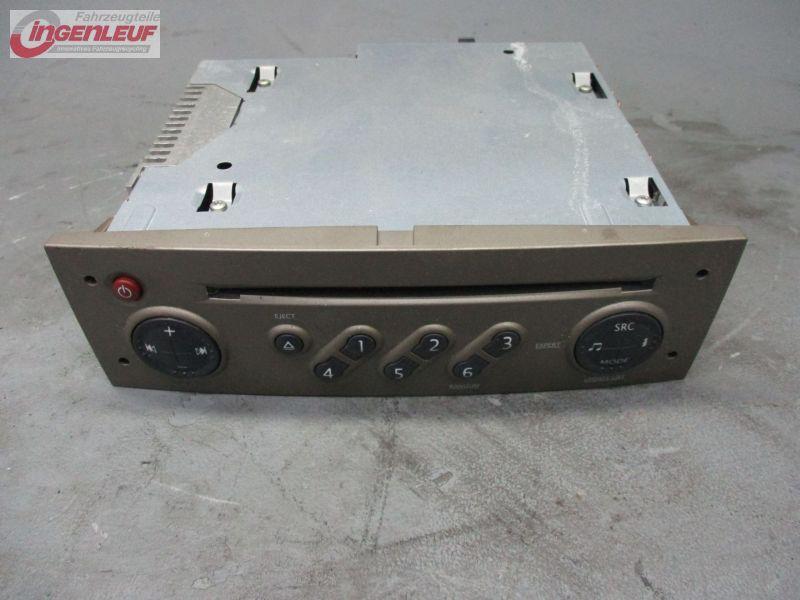 cd radio autoradio mit code 8200633644 renault grand scenic ii 2 jm 1 6 renault. Black Bedroom Furniture Sets. Home Design Ideas