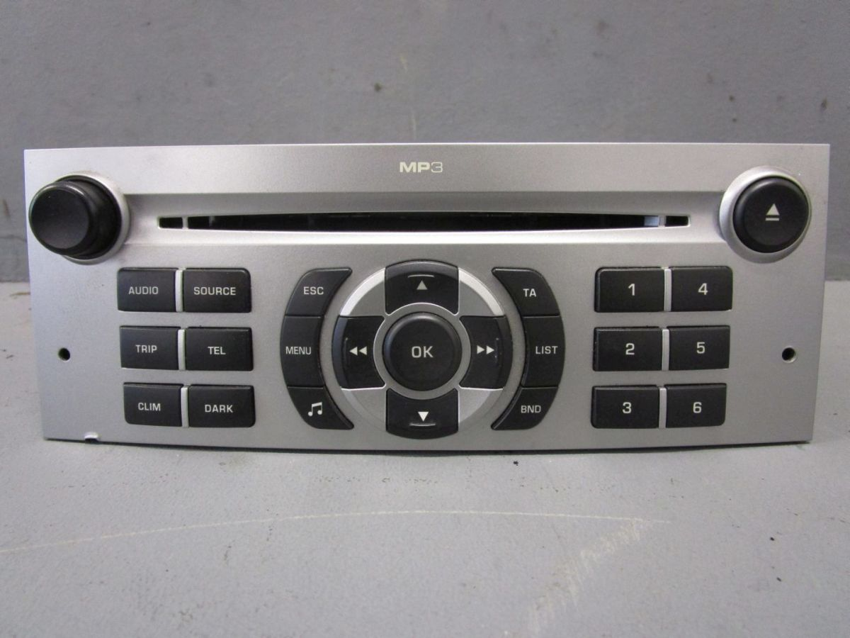 cd radio autoradio mp3 9664636277 peugeot 407 sw 6e 1 6 hdi 110 ebay. Black Bedroom Furniture Sets. Home Design Ideas
