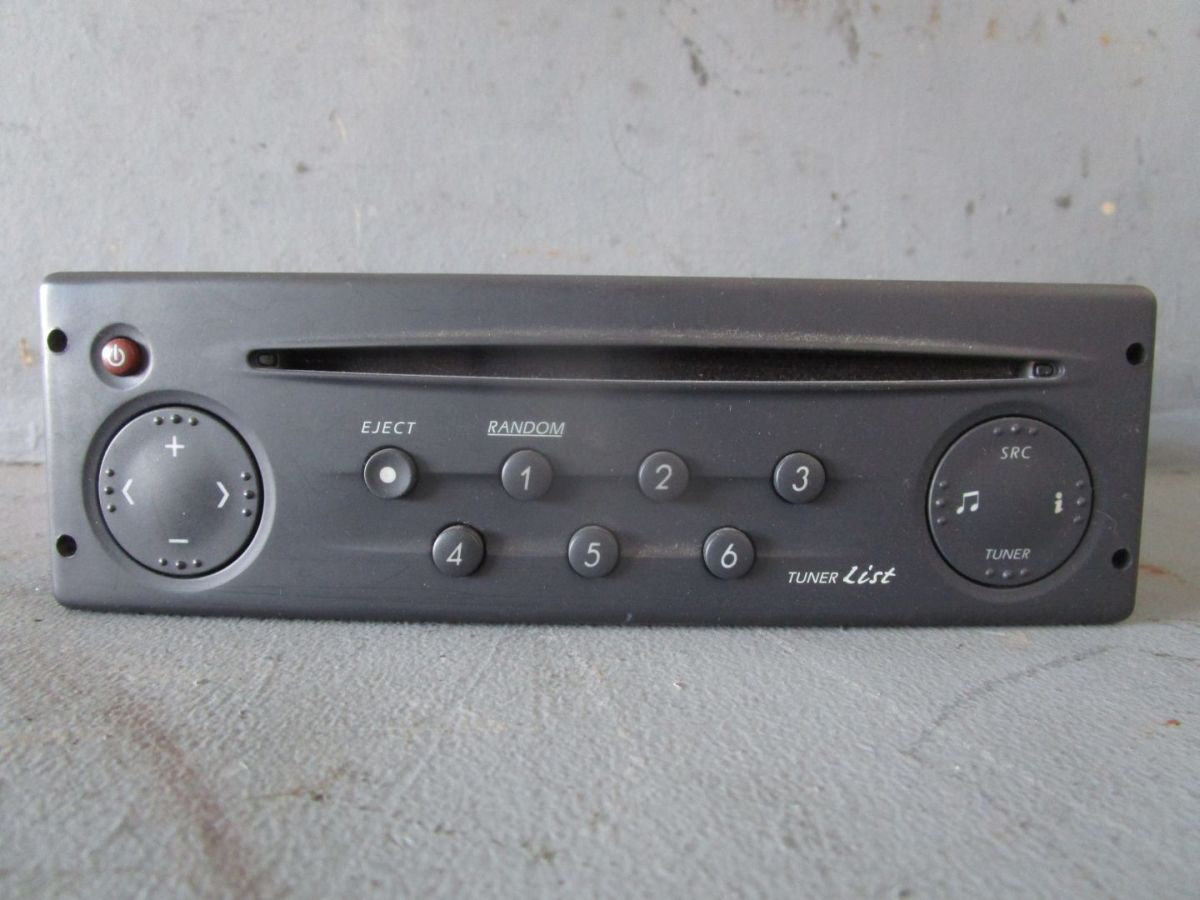 cd radio autoradio mit code 8200002607 renault laguna ii 2 bg0 1 1 8 16v ebay. Black Bedroom Furniture Sets. Home Design Ideas
