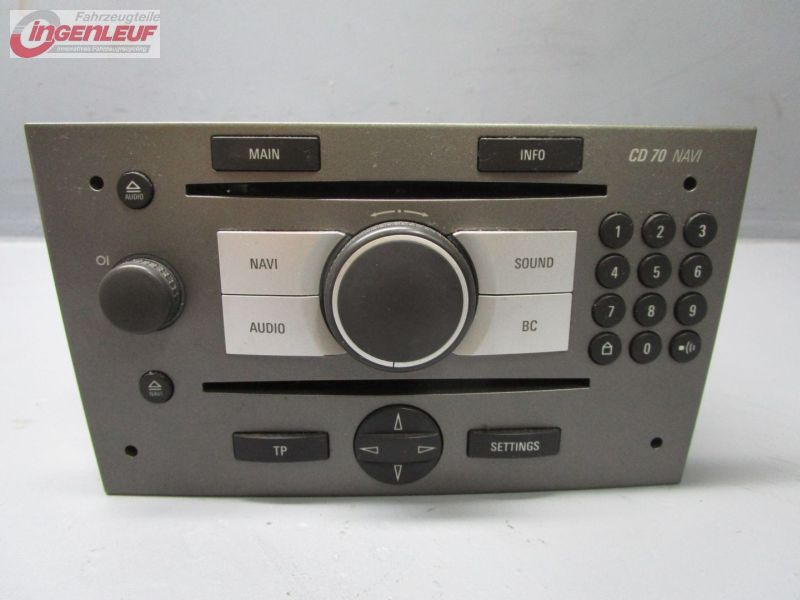 cd radio de coche cd 70 navi 13113150 opel vectra c 2 2. Black Bedroom Furniture Sets. Home Design Ideas