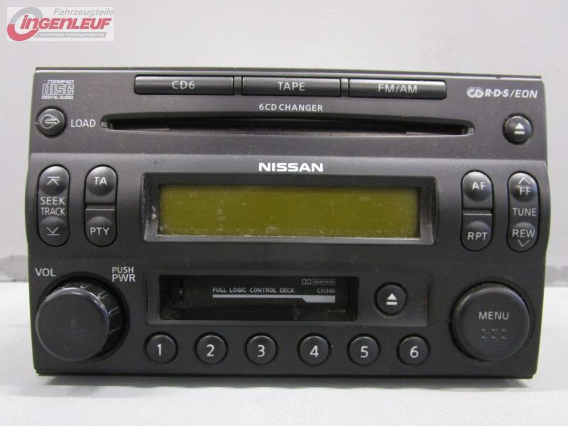 cd radio car radio cd changer combination nissan x trail t30 2 2 dci ebay. Black Bedroom Furniture Sets. Home Design Ideas