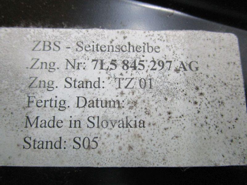 Dreieckscheibe links Hinten SeitenscheibePORSCHE CAYENNE (955) S 4.5 02-07