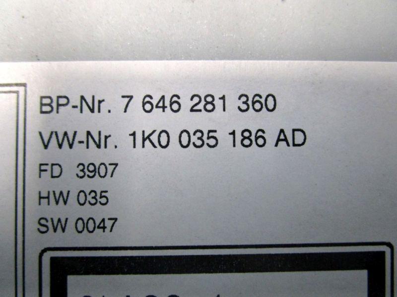 Radio RCD300 ohne CodeVW GOLF V VARIANT (1K5) 1.9 TDI