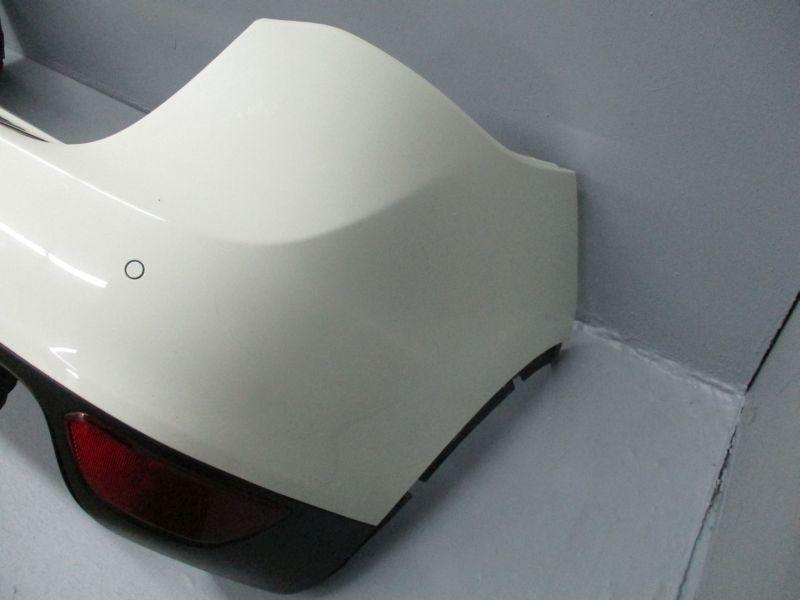 Stoßstange Stoßfänger hinten weiß mit PDC Sensoren und DiffusorPORSCHE CAYENNE (92A) 3.0 DIESEL