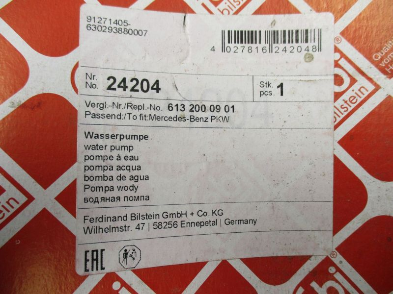 Wasserpumpe Mercedes W211 270 280 320 CDIERSATZTEIL MERCEDES-BENS (W201)